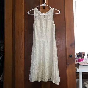 Charming Charlie white lace bridal rustic dress